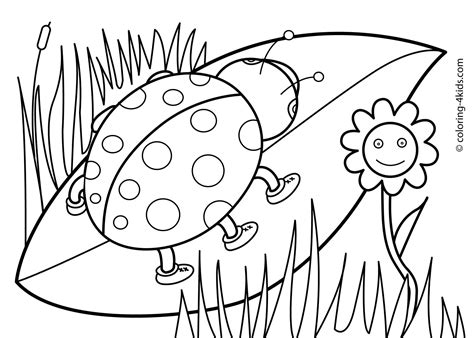 spring season nature printable coloring pages