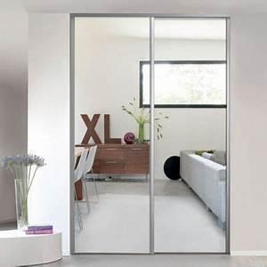 Porte Coulissante Miroir : 1 porte de placard coulissante miroir 62 2 x 245 6 cm ~ Carolinahurricanesstore.com Idées de Décoration