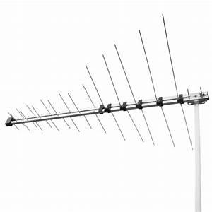 32 element log periodic tv antenna vhf uhf fm hdtv digital With vhf uhf prescaler