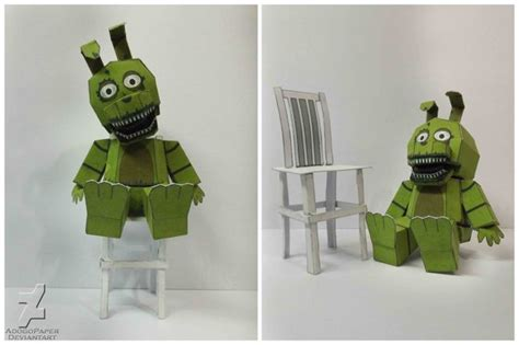 Trap 10 5 Template by Papercraftzone Br Five Nights At Freddy S 4 Plush Trap