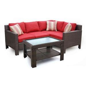 hton bay beverly wicker sectional sofa patio set at