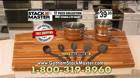 gotham steel stack master tv commercial cookware disaster ispottv