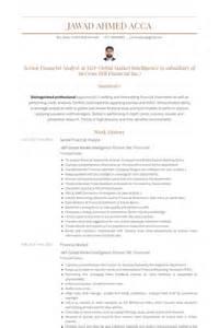 resume exles senior financial analyst senior financial analyst resume sles visualcv resume sles database