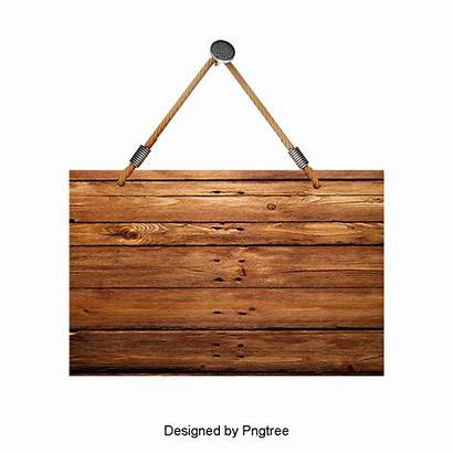 Sign Wood Blank Hanging Wooden Clipart Vector