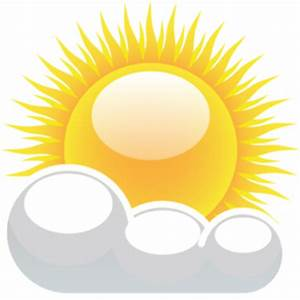 Partly Cloudy With Sunshine Clip Art at Clker.com - vector ...