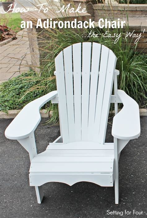 how to make an adirondack chair setting for four