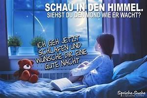 Lustige Gute Nacht Sprüche Bilder : gute nacht w nsche im mondschein spr che suche ~ Frokenaadalensverden.com Haus und Dekorationen