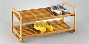 Schuhregal Holz Weiss : schuhregal mit 2 etagen aus bambus stapelbar wohn accessoires haushalt einrichten deko ~ Markanthonyermac.com Haus und Dekorationen