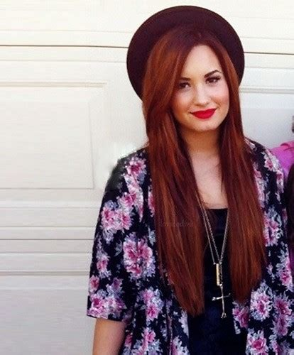 Demi Lovato Red Hair On Tumblr