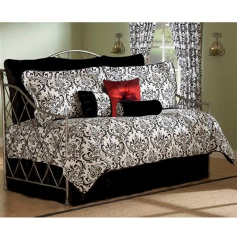 astor black white 4 pc daybed comforter set
