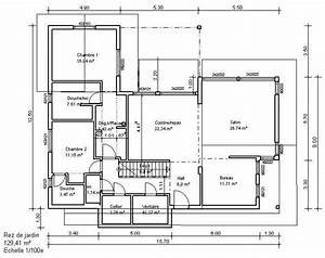 Plan 2d maison for Plan appartement 150 m2 2 plan de maison un plancher