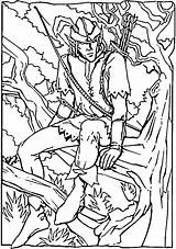 Robin Coloring Hood Pages Printable Forest Colouring Sheets Adult Printables Britain Adults Sherwood Books Background Animal Disney Tree Coloringpages101 History sketch template