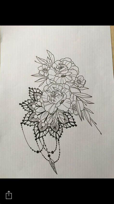 ideas  mandala flower tattoos  pinterest