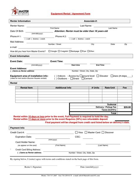 15 Room Lease Agreement Templates Sles Exles Simple Equipment Rental Agreement Template Free 28