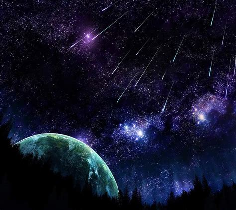 shooting stars spaceuniversecosmosstarsplanetshooting starshooting starsmeteor