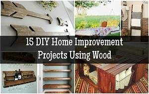 15 DIY Home Improvement Projects Using Wood