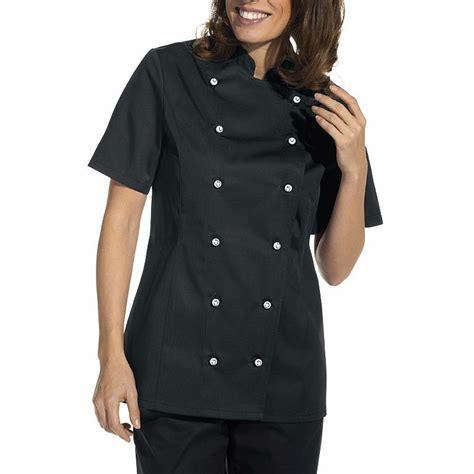 veste cuisine femme veste de cuisine femme manches courtes cintrée poche sur la manche