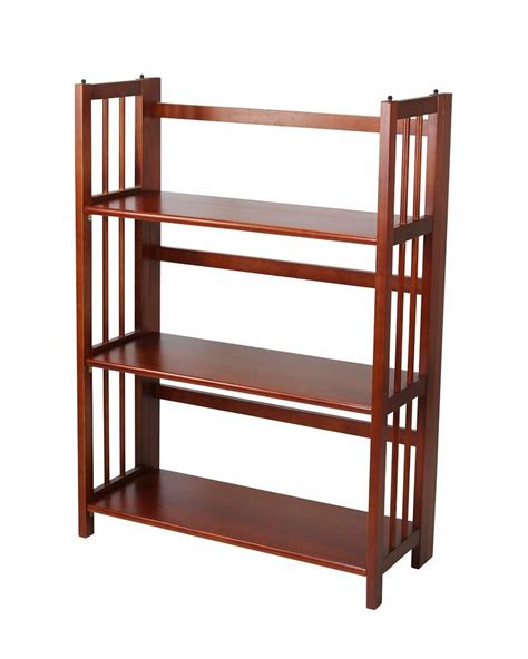 27 Wide Bookcase casual home 3 tier folding stackable bookcase 27 5 quot wide