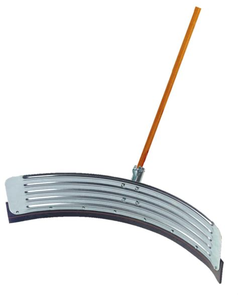 traditional curved metal floor squeegee scraper with