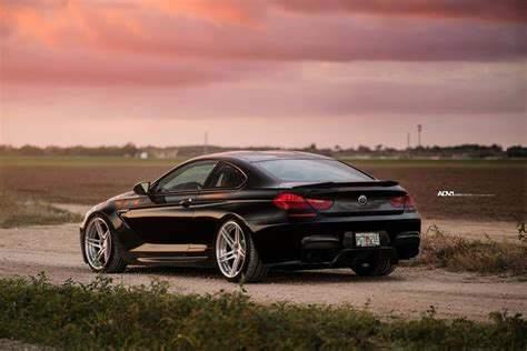 Black Sapphire Bmw M6 Adorned With Adv1 Directional Wheels