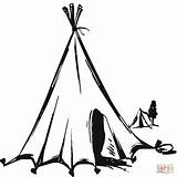 Tent Teepee Tipi Coloring Drawing Clipart Nomads Nomadic Circus Native Printable Printables Sketch Houses Getdrawings Nomad Tot Neo Rev Royalty sketch template