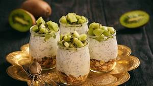 Joghurt Mit Chia : chia joghurt mit m sli und kiwi ~ Watch28wear.com Haus und Dekorationen