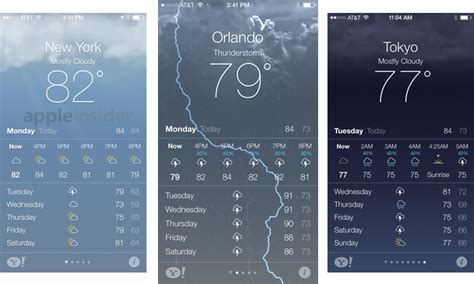 iphone weather app inside ios 7 apple s weather app gets animated