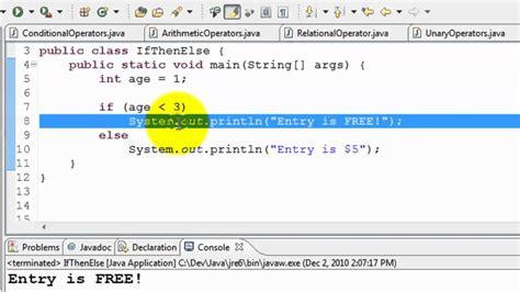 java tutorial     switch case statements