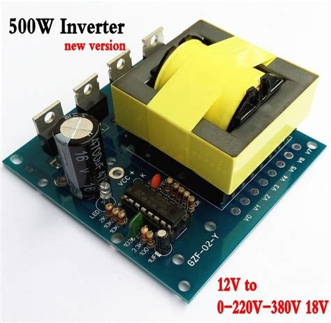 aliexpress buy updated dc ac converter 12v to 220v 380v 18v ac 500w inverter board aliexpress buy updated dc ac converter 12v to 220v 380v 18v ac 500w inverter board