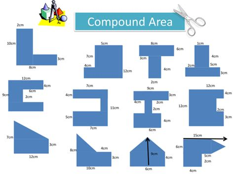 maths ks2 ks3 compound areas worksheet by bluberry24