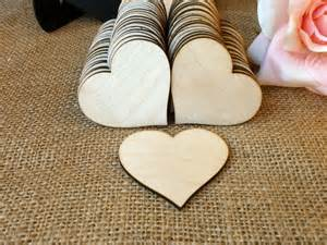 personalized guestbook 300 wooden hearts wood heart shaped gift tag wedding