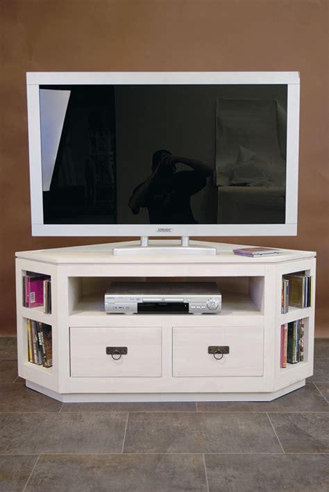 meuble tv d angle 2 tiroirs en hva de qualit de thalande