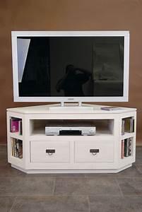 Meubles Tv D Angle : meuble tv d 39 angle 2 tiroirs en hva de qualit de thalande lotusa ~ Melissatoandfro.com Idées de Décoration