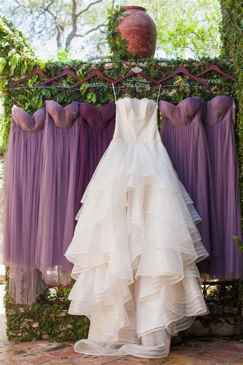 Purple Jenny Yoo Bridesmaid Gowns Wisteria And Plum Organza