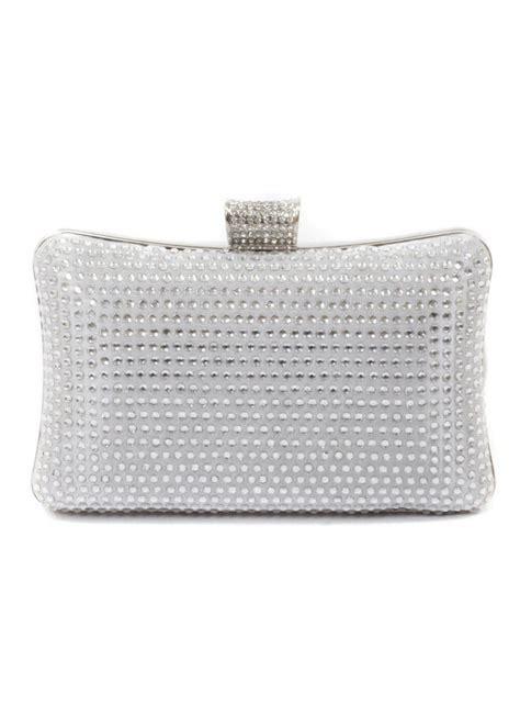 silver crystal clutch bag silver crystal evening box