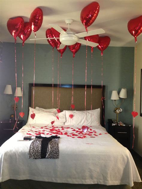 valentines surprise hotel room  boyfriend  hubby