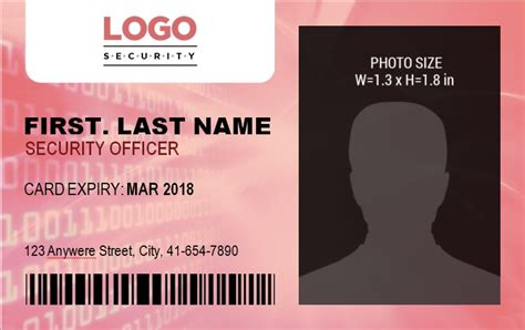id badge template   word templates