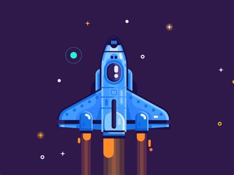5 out of 5 stars. Space set dribbble | Animation design, Animation, Spaceship