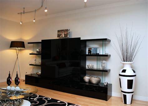 bureau bois noir meuble tv verre ébène