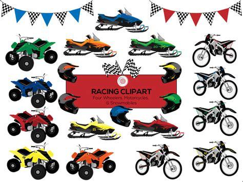 Racing Clipart Motorcycle Clipart Four Wheeler Atv