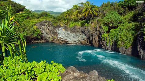 Beautiful Sceneries Of Nature For Wallpaper Free Tropical Landscape Wallpaper Wallpapersafari