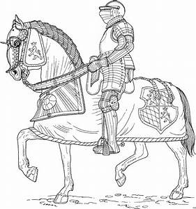 Ritter Auf Pferd 4 Ausmalbild Malvorlage Schlachten