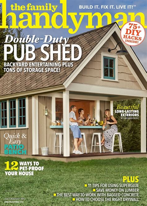 Handyman Magazine Shed by Lp Shed Products Featured In July August Issue Of The