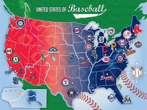 MLB USA Map, 500 Pieces, MasterPieces | Puzzle Warehouse