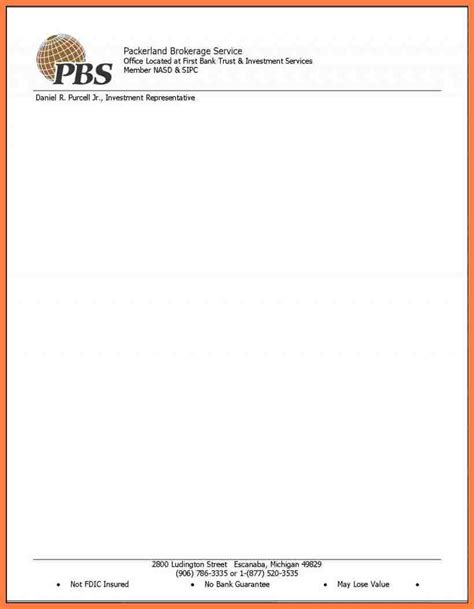 Custom Letterhead Template by Free Business Letterhead Templates Printable Online