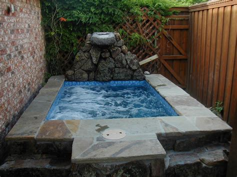 Inground Hot Tub Image — Home Ideas Collection : The