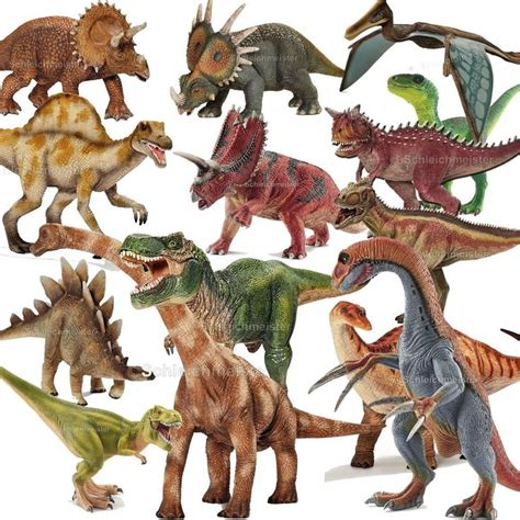 schleich alle dinos dinosaurier gross klein  rex