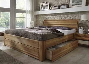 Bett 180x200 Massivholz Komforthöhe : schubladenbetten in eiche g nstig massiva ~ Bigdaddyawards.com Haus und Dekorationen
