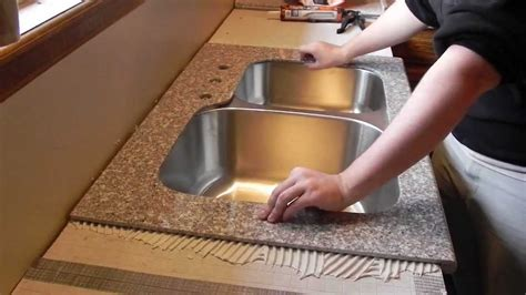 Installing 12x12 Granite Tile Countertop by Lazy Granite Kitchen Countertop Installation Youtube