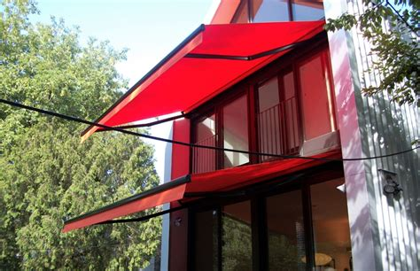 bright orange awnings rolltec retractable awnings toronto ontario canada